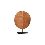 Phillips Collection Carved Round Leaf on Metal Stand, LG