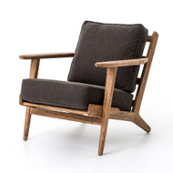 Four Hands Brooks Lounge Chair - Stonewsh Drk Green