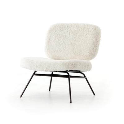 Four Hands Caleb Chair - Ivory Angora