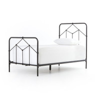 Four Hands Casey Iron Twin Bed - Black