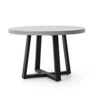 "Four Hands Cyrus Round Dining Table - 48"" - Grey"