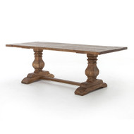 """Four Hands Durham Dining Table - 87"""" - Bleached Oak"""