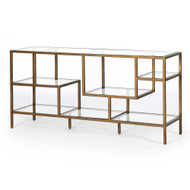 Four Hands Helena Brass Media Console - Antique Brass