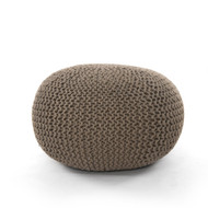 Four Hands Jute Knit Pouf - Clay