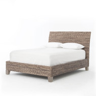 Four Hands Lanai Banana Leaf King Bed - Grey Wash