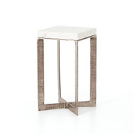 Four Hands Lennie End Table - Brushed Nickel