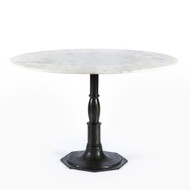 Four Hands Lucy Round Dining Table - Marble/Carbo