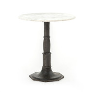 Four Hands Lucy Side Table - Carbon Wash, Marble Top