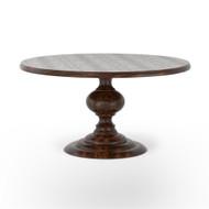 "Four Hands Magnolia Round Dining Table - 60"" - Dark Oak"