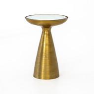 Four Hands Marlow Mod Pedestal Table - Brushed Bras