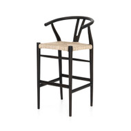 Four Hands Muestra Bar + Counter Stool - Black Teak