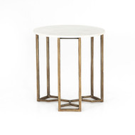 Four Hands Naomi Marble End Table