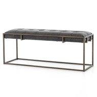 Four Hands Oxford Bench - Ebony