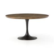"Four Hands Powell Dining Table - 55"" - Light Burnt Oak"