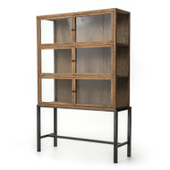Four Hands Spencer Curio Cabinet - Drifted Oak