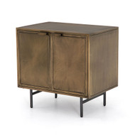 Four Hands Sunburst Cabinet Nightstand - Aged Brass