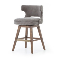 Four Hands Task Swivel Counter Stool - Dark Moon Canv