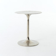 Four Hands Tulip Side Table - Raw Nickel