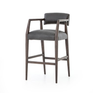 Four Hands Tyler Bar Stool - Chaps Ebony