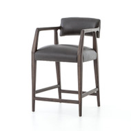 Four Hands Tyler Counter Stool - Chaps Ebony