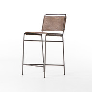 Four Hands Wharton Counter Stool - Distressed Brown