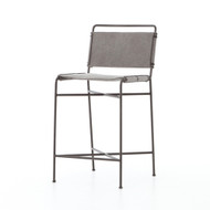 Four Hands Wharton Counter Stool - Stonewash Grey