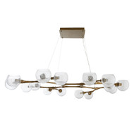 Mahowald Fixed Chandelier - Antique Brass