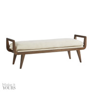 Santana Bench Muslin - Walnut/White