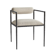 Barbana Chair Pewter Texture - Pewter/Natural