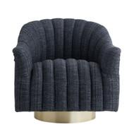 Springsteen Chair Indigo Tweed Champagne Swivel