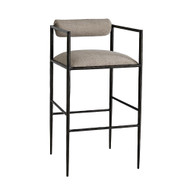 Barbana Bar Stool Pewter Texture - Natural/Pewter