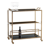 Jak Bar Cart - Antique Brass