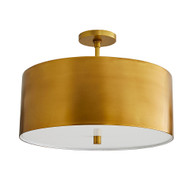 Tarbell Semi-Flush - Antique Brass