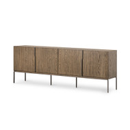 Four Hands Archie Sideboard - Light Gunmetal - Dark Hazel