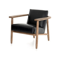 Four Hands Arnett Chair - Dakota Black - Distressed Natural
