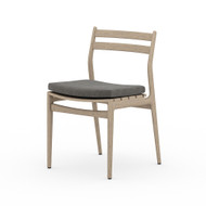Four Hands Atherton Outdoor Dining Chair - Charcoal - Washed Brown