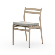 Four Hands Atherton Outdoor Dining Chair - Faye Ash - Washed Brown