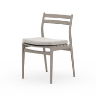 Four Hands Atherton Outdoor Dining Chair - Stone Grey - Weathered Grey