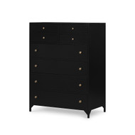 Four Hands Belmont 8 Drawer Tall Dresser - Black