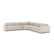 Four Hands Boone 3-Piece Sectional - Thames Coal - Washed Espresso