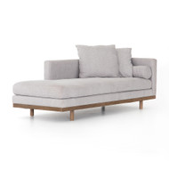 Four Hands Brady Single Chaise-Vail Silver - Vail Silver - Distressed Natural
