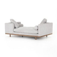 Four Hands Brady Tete A Tete Chaise-Vail Silver - Vail Silver - Distressed Natural
