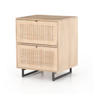 Four Hands Carmel Filing Cabinet-Natural Mango - Natural Mango - Natural Cane - Gunmetal