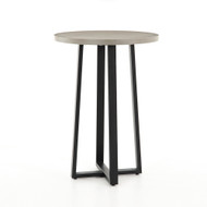 Four Hands Cyrus Bar Table - Black - Light Grey