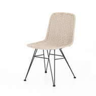 Four Hands Dema Outdoor Dining Chair - Charcoal Aluminum - Natural Rope