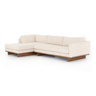 Four Hands Everly 2-Piece Sectional - Irving Taupe - Antique Cocoa
