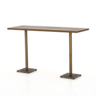 Four Hands Fannin Large Bar Table - Aged Brass - Acid Etched Aged Brass