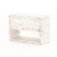 Four Hands Fauna Small Outdoor Planter - White Terrazzo