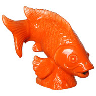 Jumping Koi Statue - Bright Orange