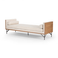 Four Hands Holden Chaise - Thames Cream - Toasted Ash - Oxidized Grey